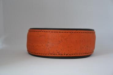 Halsband mit Kork Orange